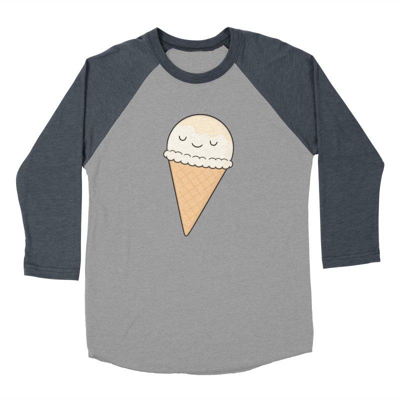 Ice Cream Men's Baseball Triblend Longsleeve T-Shirt by Kim Vervuurt