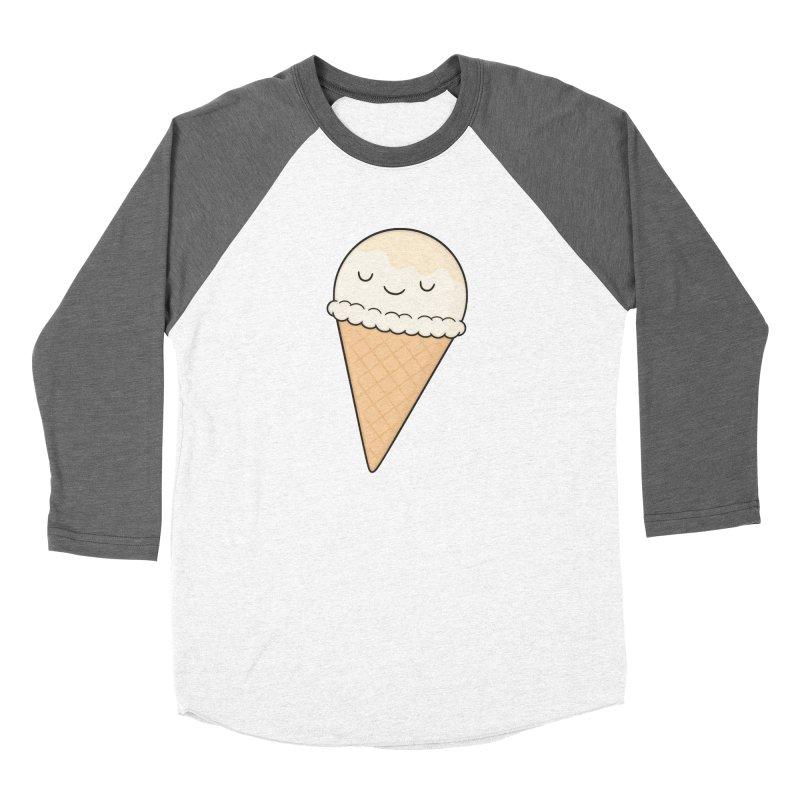 Ice Cream Men's Baseball Triblend T-Shirt by Kim Vervuurt