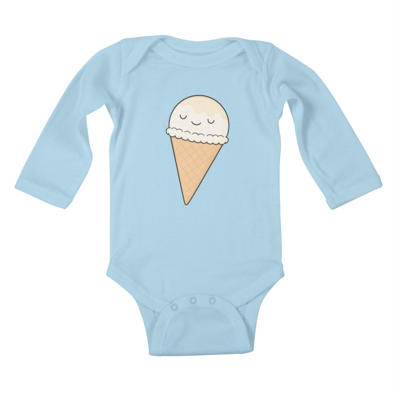 Ice Cream Kids Baby Longsleeve Bodysuit by Kim Vervuurt