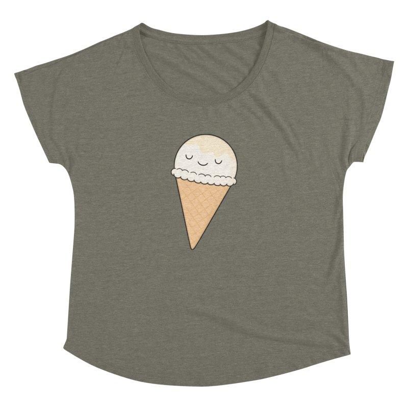 Ice Cream Women's Dolman Scoop Neck by Kim Vervuurt