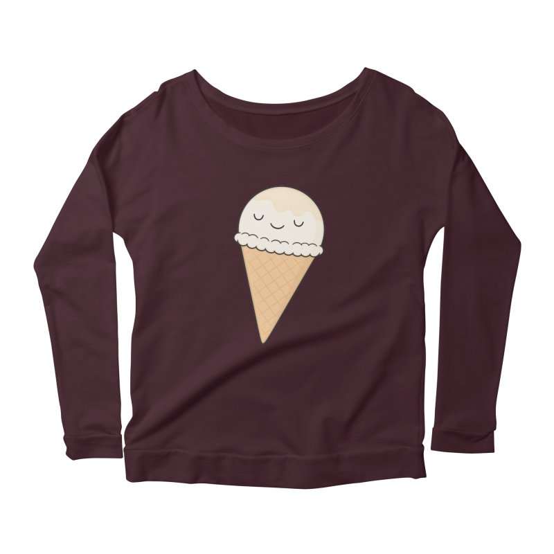 Ice Cream Women's Longsleeve Scoopneck  by Kim Vervuurt