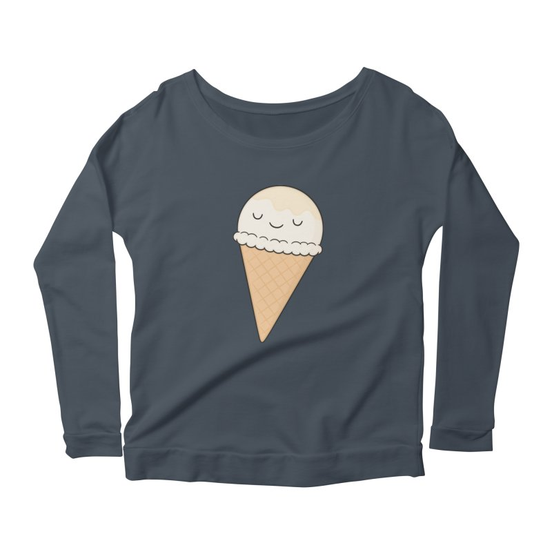 Ice Cream Women's Scoop Neck Longsleeve T-Shirt by Kim Vervuurt
