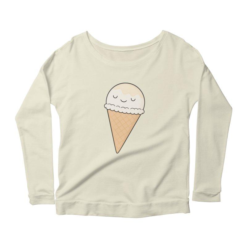 Ice Cream Women's Scoop Neck Longsleeve T-Shirt by Kim Vervuurt