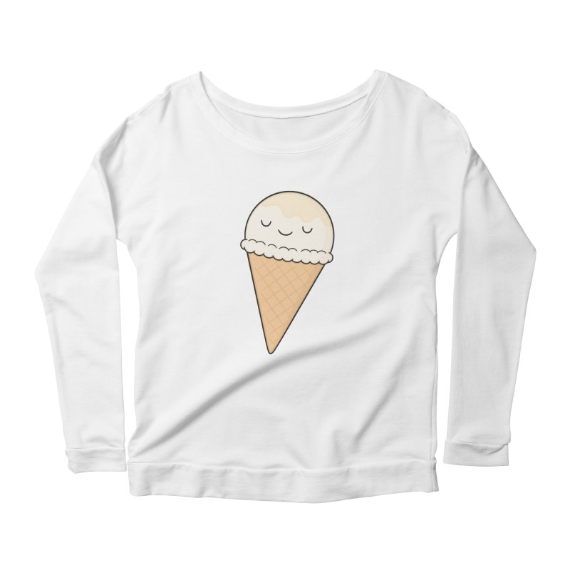 Ice Cream Women's Longsleeve Scoopneck  by Kim Vervuurt