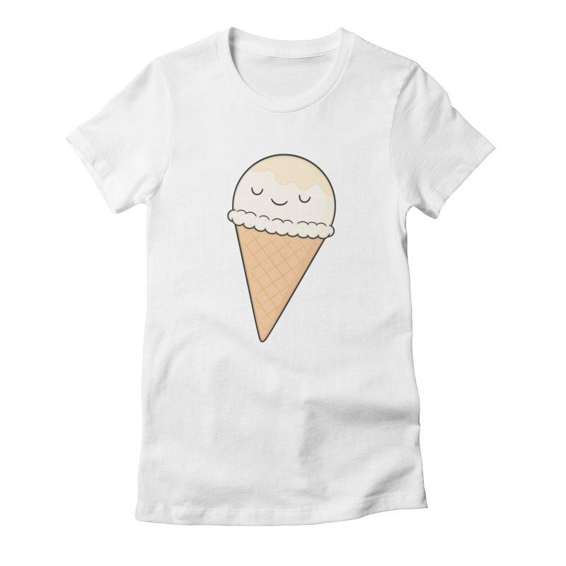 Ice Cream Women's Fitted T-Shirt by Kim Vervuurt