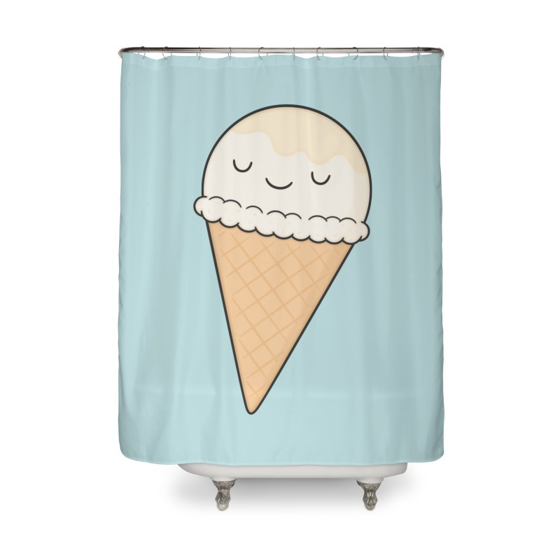 Ice Cream Home Shower Curtain by Kim Vervuurt