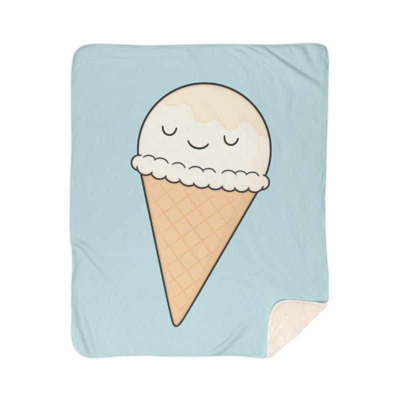 Ice Cream Home Sherpa Blanket Blanket by Kim Vervuurt