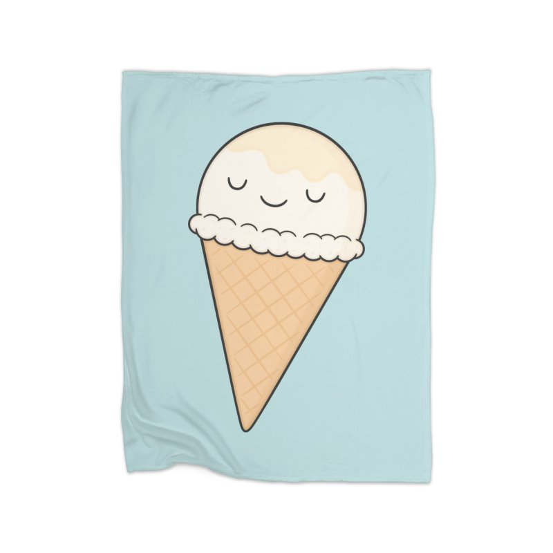 Ice Cream Home Fleece Blanket Blanket by Kim Vervuurt