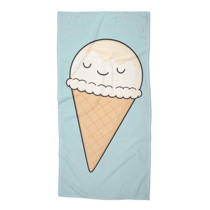 Ice Cream Accessories Beach Towel by Kim Vervuurt