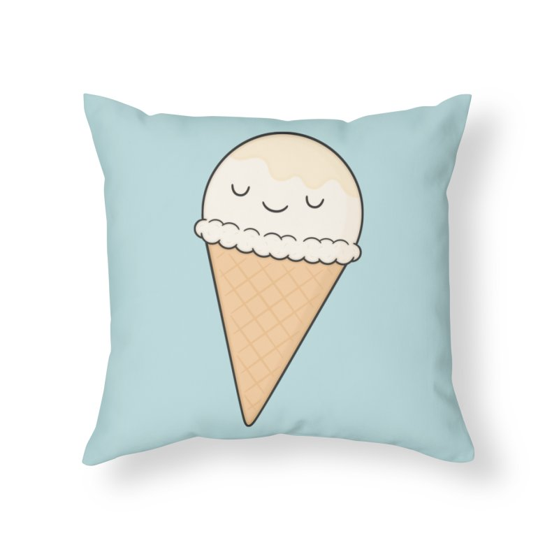 Ice Cream Home Throw Pillow by Kim Vervuurt