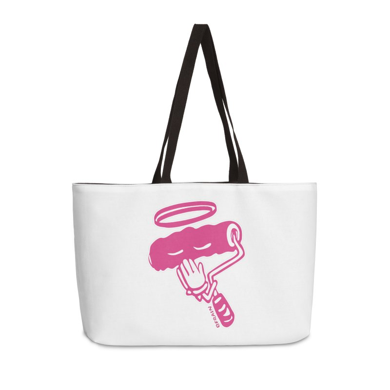 Holy Roller Paint for Our Souls - Pink Accessories Weekender Bag Bag by Kindalikesorta - Art Prints, Custom T-Shirts + Mor