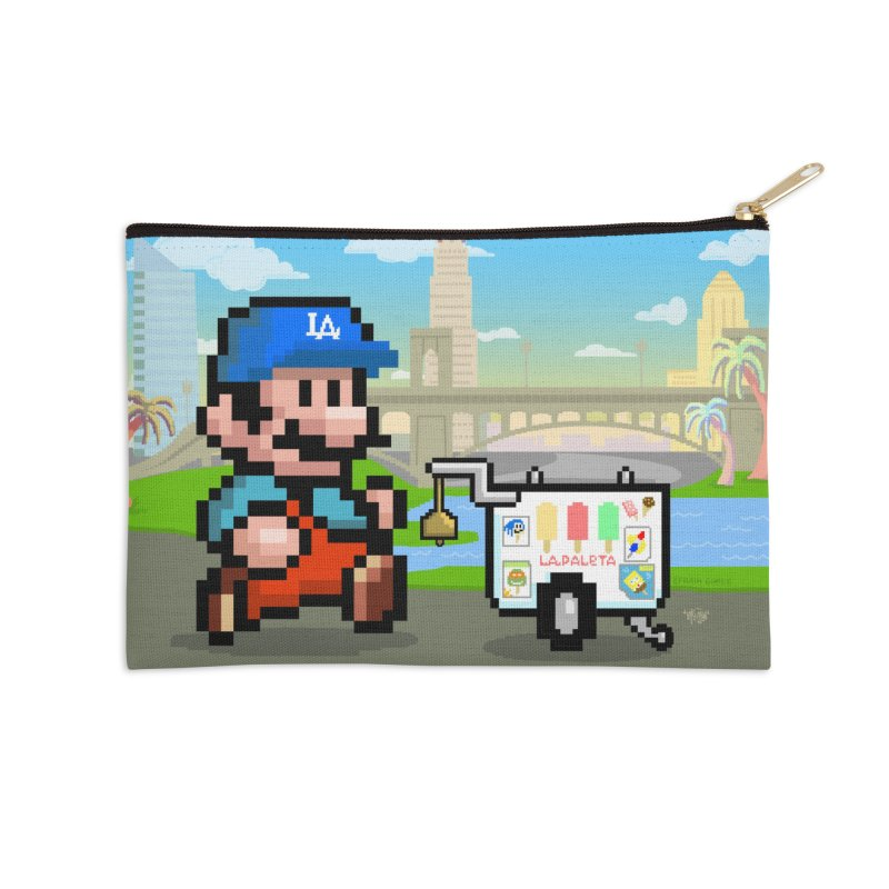 Super Mario Paletero Serves in Up in Los Angeles - Red Overalls Accessories Zip Pouch by Kindalikesorta - Art Prints, Custom T-Shirts + Mor