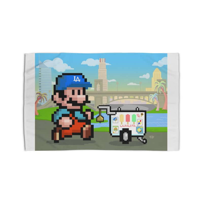 Super Mario Paletero Serves in Up in Los Angeles - Red Overalls Home Rug by Kindalikesorta - Art Prints, Custom T-Shirts + Mor