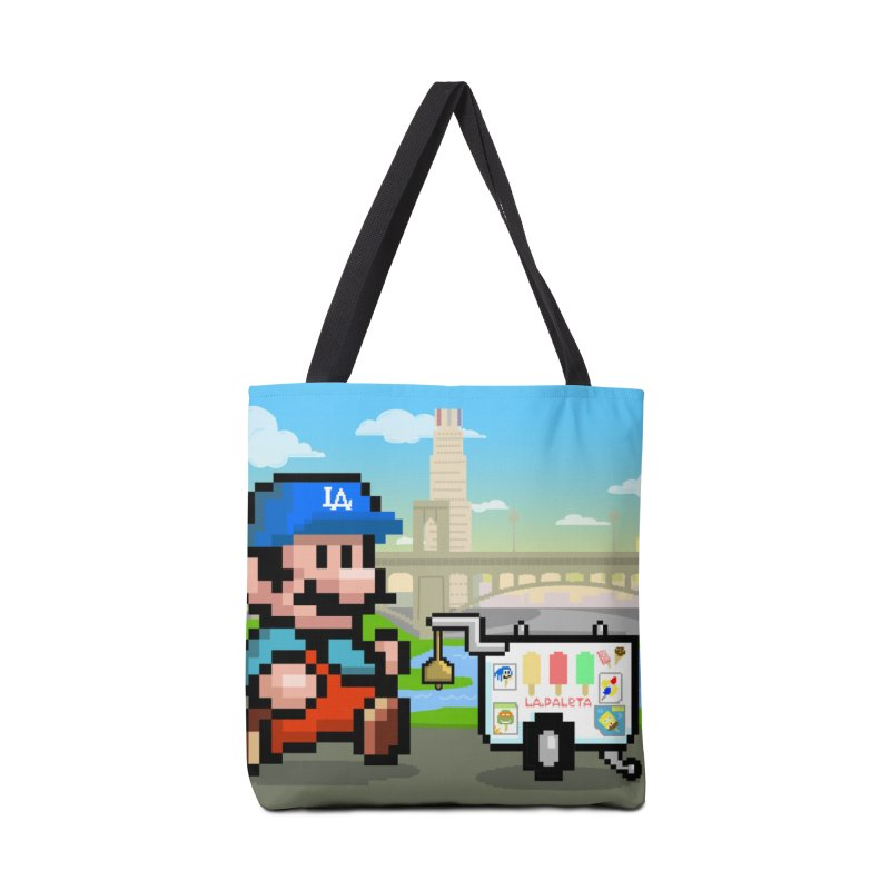 Super Mario Paletero Serves in Up in Los Angeles - Red Overalls Accessories Tote Bag Bag by Kindalikesorta - Art Prints, Custom T-Shirts + Mor