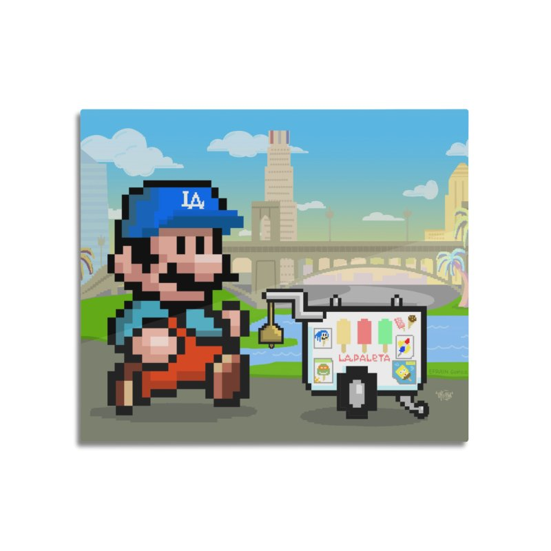 Super Mario Paletero Serves in Up in Los Angeles - Red Overalls Home Mounted Acrylic Print by Kindalikesorta - Art Prints, Custom T-Shirts + Mor