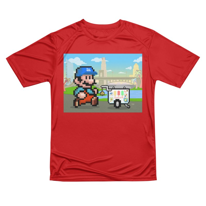 Super Mario Paletero Serves in Up in Los Angeles - Red Overalls Women's Performance Unisex T-Shirt by Kindalikesorta - Art Prints, Custom T-Shirts + Mor