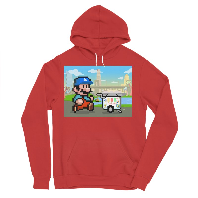 Super Mario Paletero Serves in Up in Los Angeles - Red Overalls Men's Sponge Fleece Pullover Hoody by Kindalikesorta - Art Prints, Custom T-Shirts + Mor