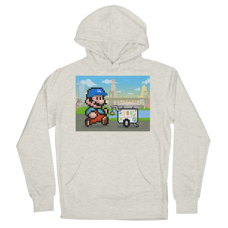 Super Mario Paletero Serves in Up in Los Angeles - Red Overalls Women's French Terry Pullover Hoody by Kindalikesorta - Art Prints, Custom T-Shirts + Mor