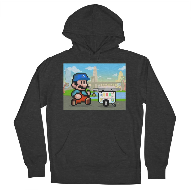 Super Mario Paletero Serves in Up in Los Angeles - Red Overalls Men's French Terry Pullover Hoody by Kindalikesorta - Art Prints, Custom T-Shirts + Mor