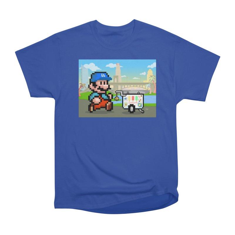 Super Mario Paletero Serves in Up in Los Angeles - Red Overalls Women's Heavyweight Unisex T-Shirt by Kindalikesorta - Art Prints, Custom T-Shirts + Mor