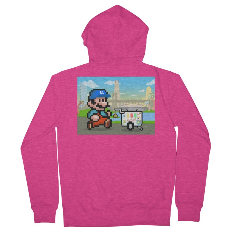 Super Mario Paletero Serves in Up in Los Angeles - Red Overalls Women's French Terry Zip-Up Hoody by Kindalikesorta - Art Prints, Custom T-Shirts + Mor