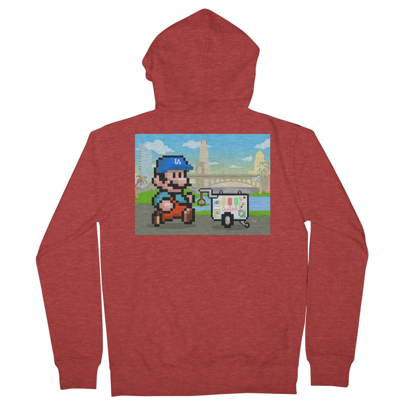 Super Mario Paletero Serves in Up in Los Angeles - Red Overalls Men's French Terry Zip-Up Hoody by Kindalikesorta - Art Prints, Custom T-Shirts + Mor