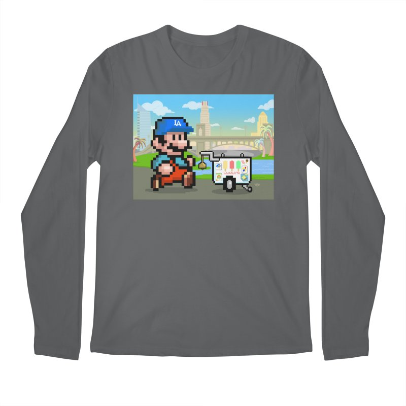 Super Mario Paletero Serves in Up in Los Angeles - Red Overalls Men's Regular Longsleeve T-Shirt by Kindalikesorta - Art Prints, Custom T-Shirts + Mor