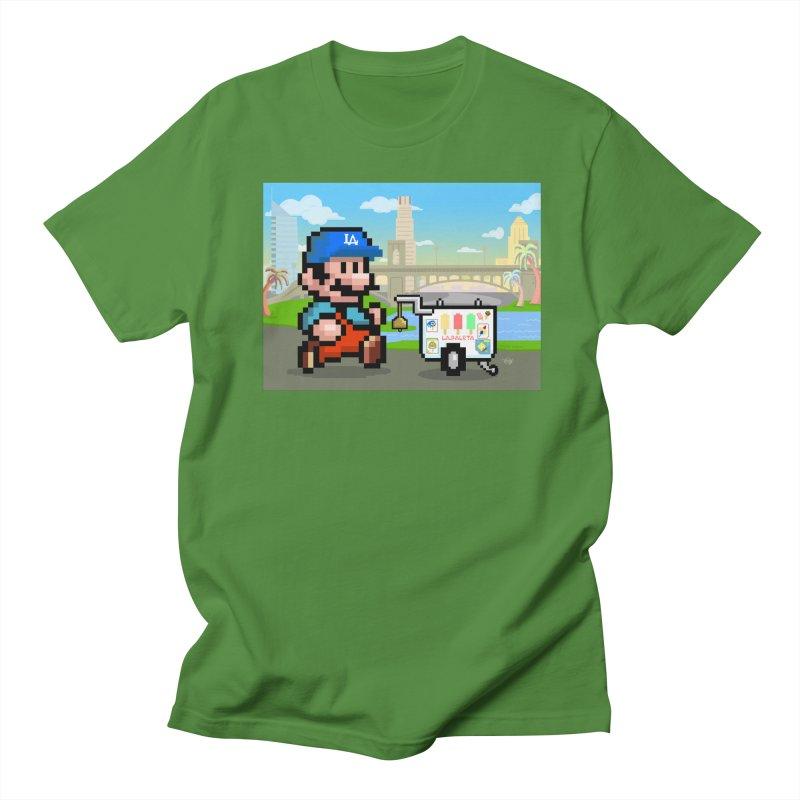 Super Mario Paletero Serves in Up in Los Angeles - Red Overalls Women's Regular Unisex T-Shirt by Kindalikesorta - Art Prints, Custom T-Shirts + Mor