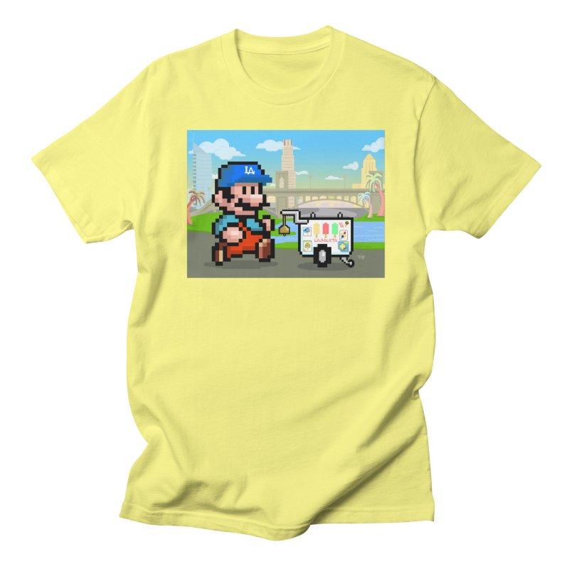 Super Mario Paletero Serves in Up in Los Angeles - Red Overalls Men's Regular T-Shirt by Kindalikesorta - Art Prints, Custom T-Shirts + Mor