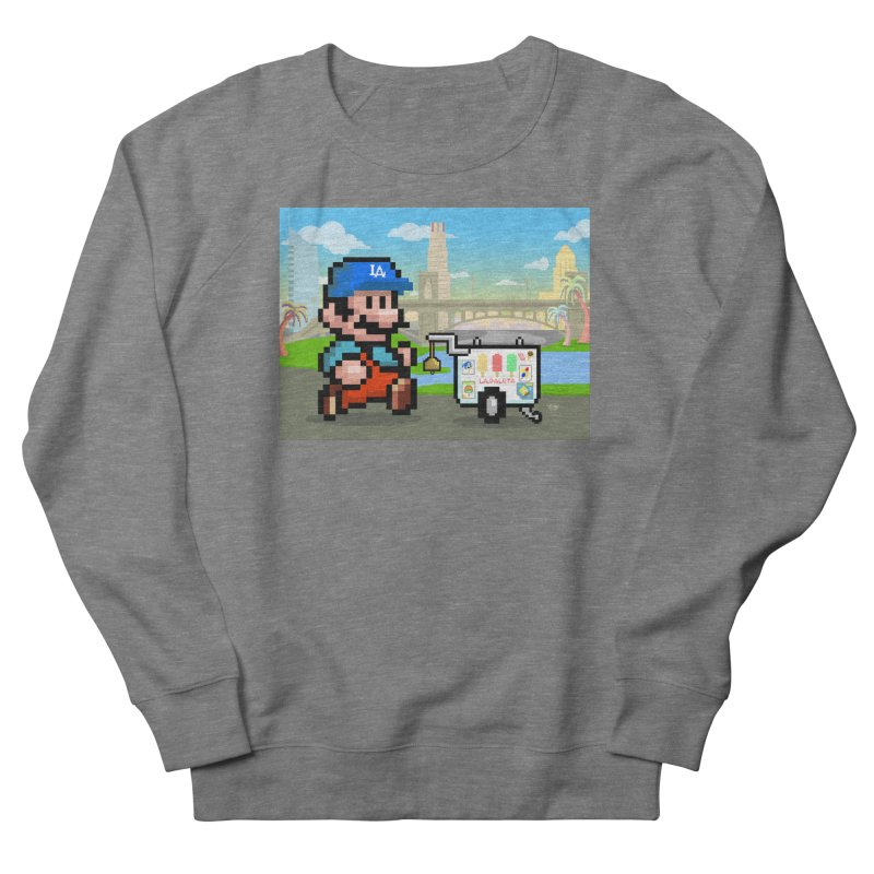 Super Mario Paletero Serves in Up in Los Angeles - Red Overalls Men's French Terry Sweatshirt by Kindalikesorta - Art Prints, Custom T-Shirts + Mor