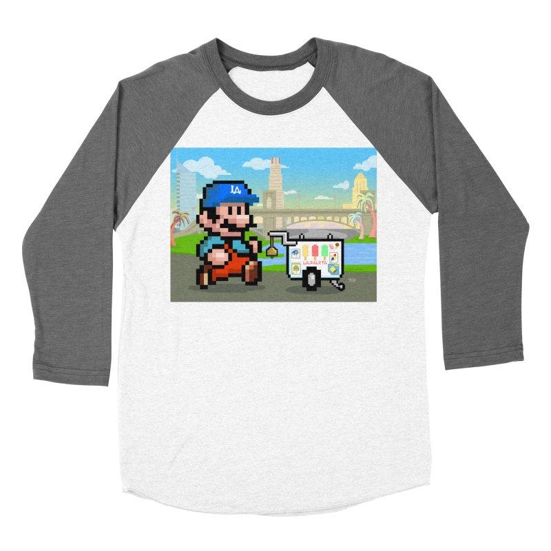 Super Mario Paletero Serves in Up in Los Angeles - Red Overalls Women's Baseball Triblend Longsleeve T-Shirt by Kindalikesorta - Art Prints, Custom T-Shirts + Mor