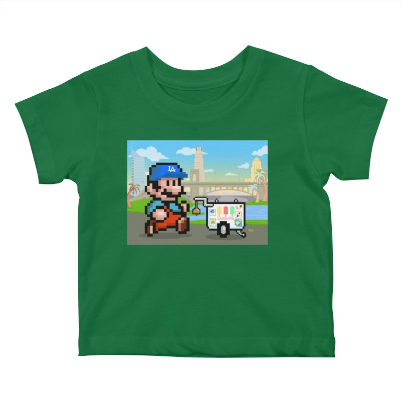 Super Mario Paletero Serves in Up in Los Angeles - Red Overalls Kids Baby T-Shirt by Kindalikesorta - Art Prints, Custom T-Shirts + Mor