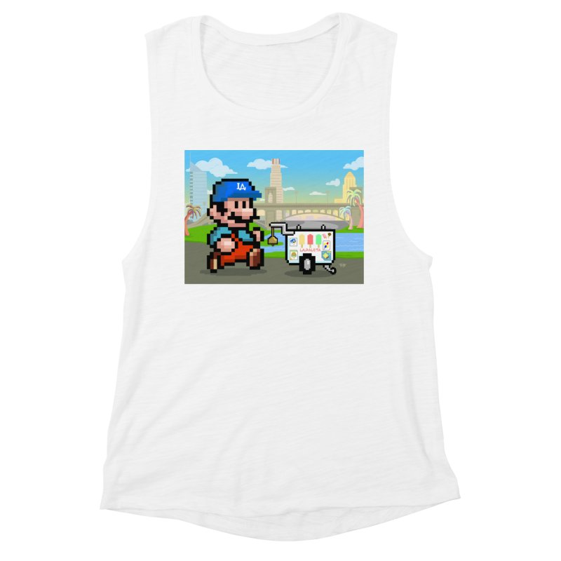 Super Mario Paletero Serves in Up in Los Angeles - Red Overalls Women's Muscle Tank by Kindalikesorta - Art Prints, Custom T-Shirts + Mor