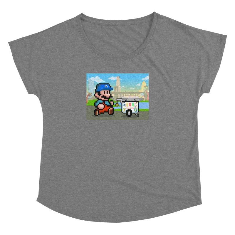 Super Mario Paletero Serves in Up in Los Angeles - Red Overalls Women's Dolman Scoop Neck by Kindalikesorta - Art Prints, Custom T-Shirts + Mor