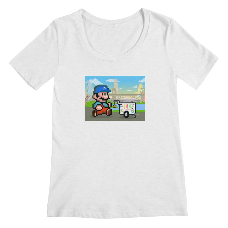 Super Mario Paletero Serves in Up in Los Angeles - Red Overalls Women's Regular Scoop Neck by Kindalikesorta - Art Prints, Custom T-Shirts + Mor