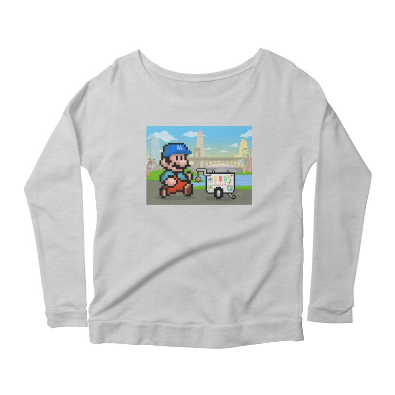 Super Mario Paletero Serves in Up in Los Angeles - Red Overalls Women's Scoop Neck Longsleeve T-Shirt by Kindalikesorta - Art Prints, Custom T-Shirts + Mor