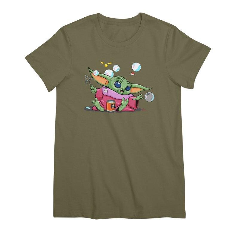 Orko Baby Yoda and Duff Deathly Hallow Bubbles Women's Premium T-Shirt by Kindalikesorta - Art Prints, Custom T-Shirts + Mor