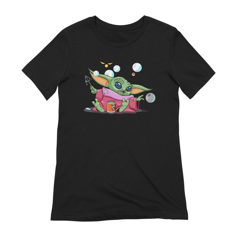 Orko Baby Yoda and Duff Deathly Hallow Bubbles Women's Extra Soft T-Shirt by Kindalikesorta - Art Prints, Custom T-Shirts + Mor