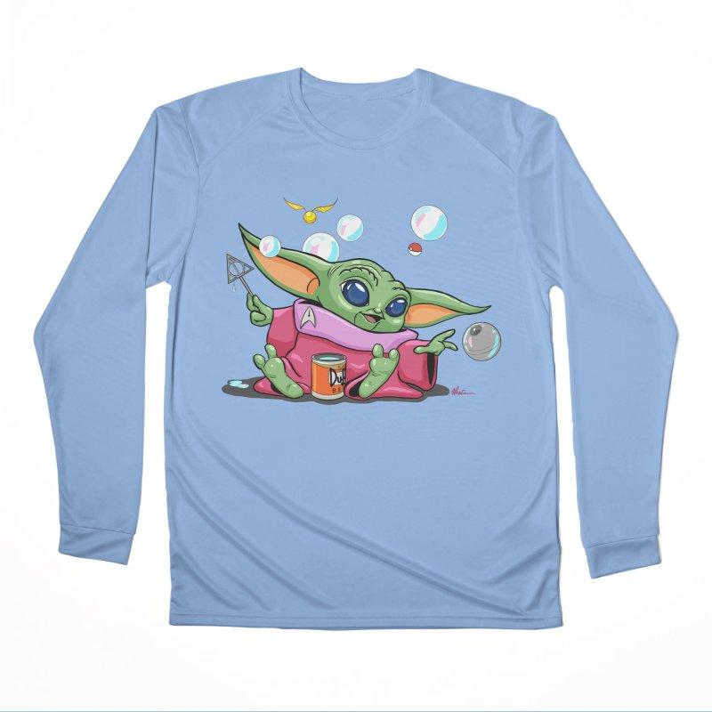 Orko Baby Yoda and Duff Deathly Hallow Bubbles Men's Performance Longsleeve T-Shirt by Kindalikesorta - Art Prints, Custom T-Shirts + Mor