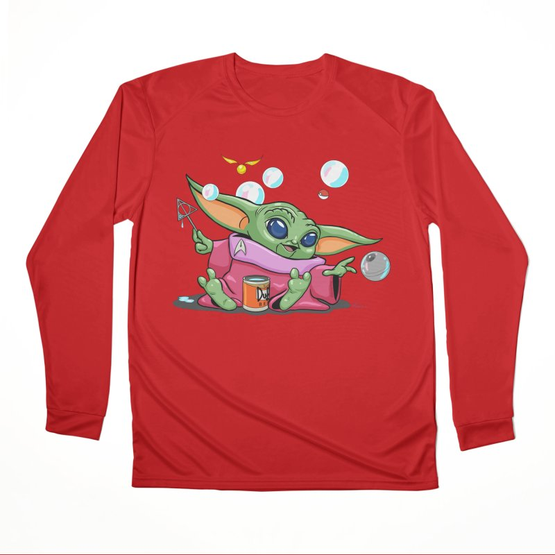 Orko Baby Yoda and Duff Deathly Hallow Bubbles Women's Performance Unisex Longsleeve T-Shirt by Kindalikesorta - Art Prints, Custom T-Shirts + Mor