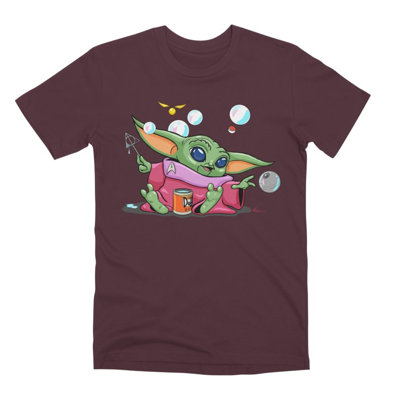 Orko Baby Yoda and Duff Deathly Hallow Bubbles Men's Premium T-Shirt by Kindalikesorta - Art Prints, Custom T-Shirts + Mor