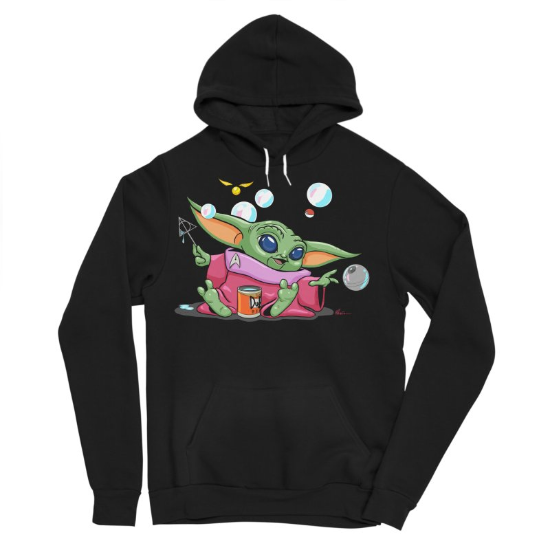 Orko Baby Yoda and Duff Deathly Hallow Bubbles Men's Sponge Fleece Pullover Hoody by Kindalikesorta - Art Prints, Custom T-Shirts + Mor