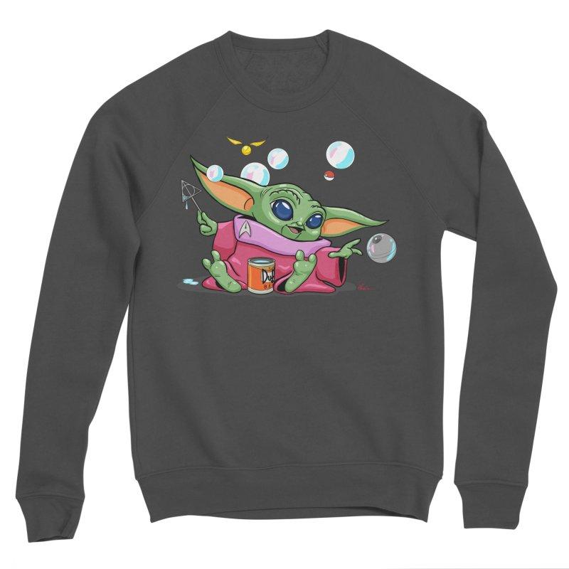 Orko Baby Yoda and Duff Deathly Hallow Bubbles Men's Sponge Fleece Sweatshirt by Kindalikesorta - Art Prints, Custom T-Shirts + Mor