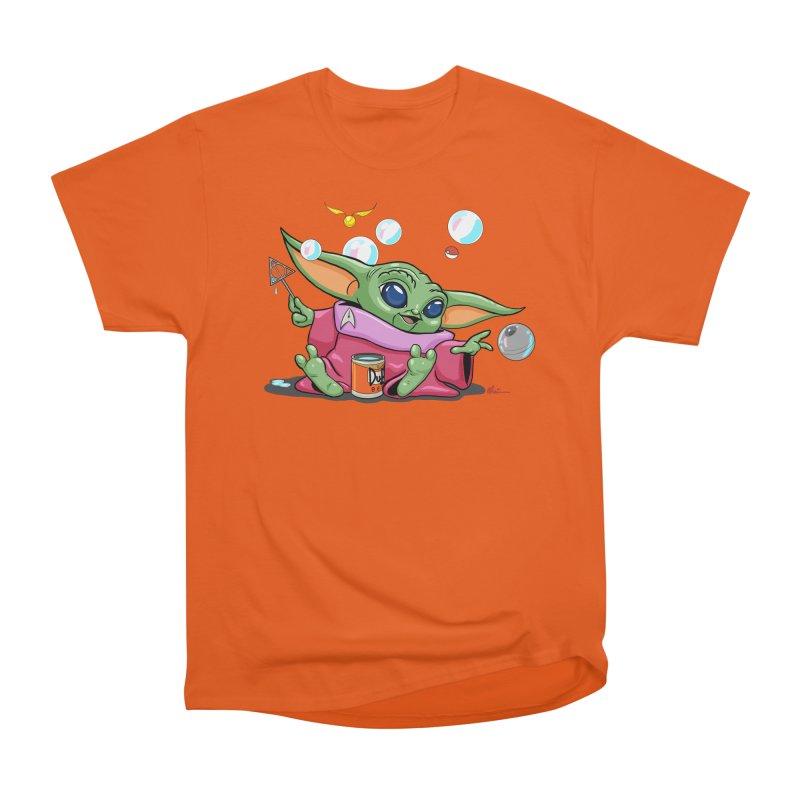 Orko Baby Yoda and Duff Deathly Hallow Bubbles Women's Heavyweight Unisex T-Shirt by Kindalikesorta - Art Prints, Custom T-Shirts + Mor