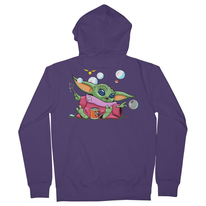 Orko Baby Yoda and Duff Deathly Hallow Bubbles Women's French Terry Zip-Up Hoody by Kindalikesorta - Art Prints, Custom T-Shirts + Mor
