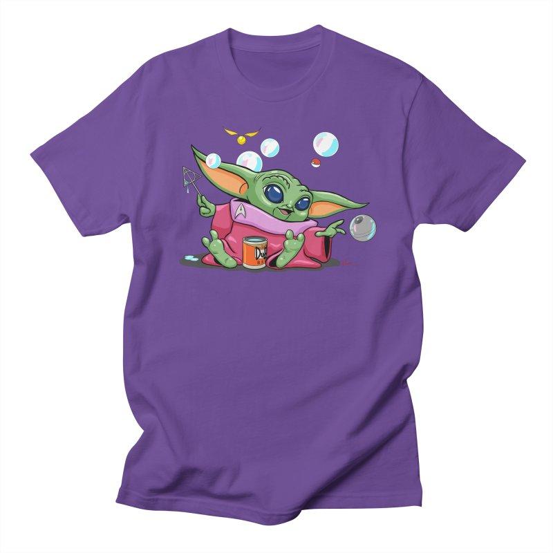 Orko Baby Yoda and Duff Deathly Hallow Bubbles Men's Regular T-Shirt by Kindalikesorta - Art Prints, Custom T-Shirts + Mor