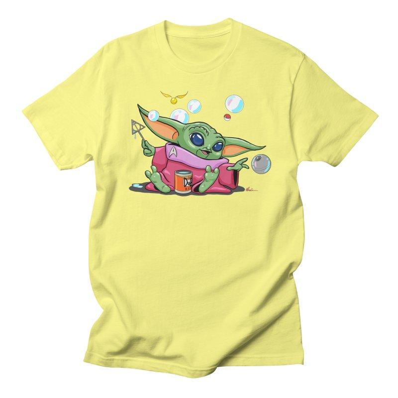 Orko Baby Yoda and Duff Deathly Hallow Bubbles Women's Regular Unisex T-Shirt by Kindalikesorta - Art Prints, Custom T-Shirts + Mor