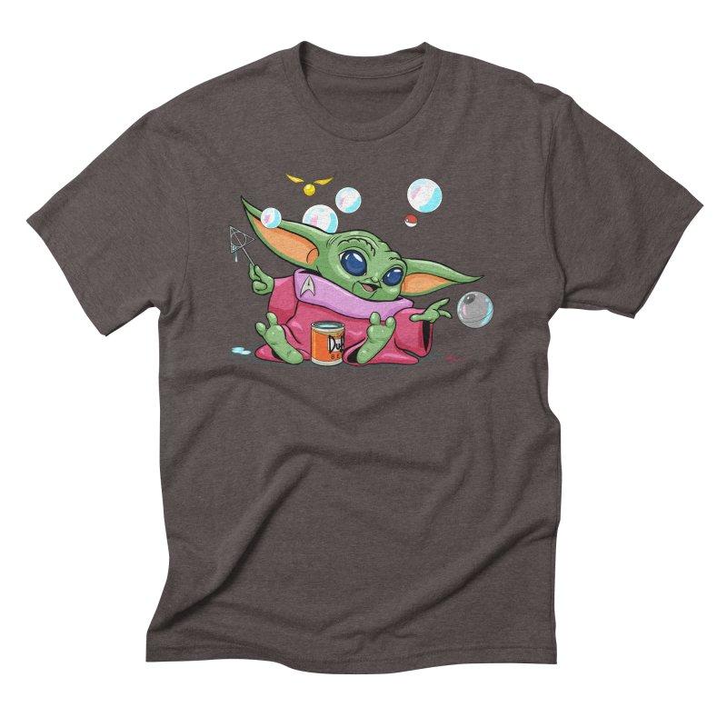 Orko Baby Yoda and Duff Deathly Hallow Bubbles Men's Triblend T-Shirt by Kindalikesorta - Art Prints, Custom T-Shirts + Mor