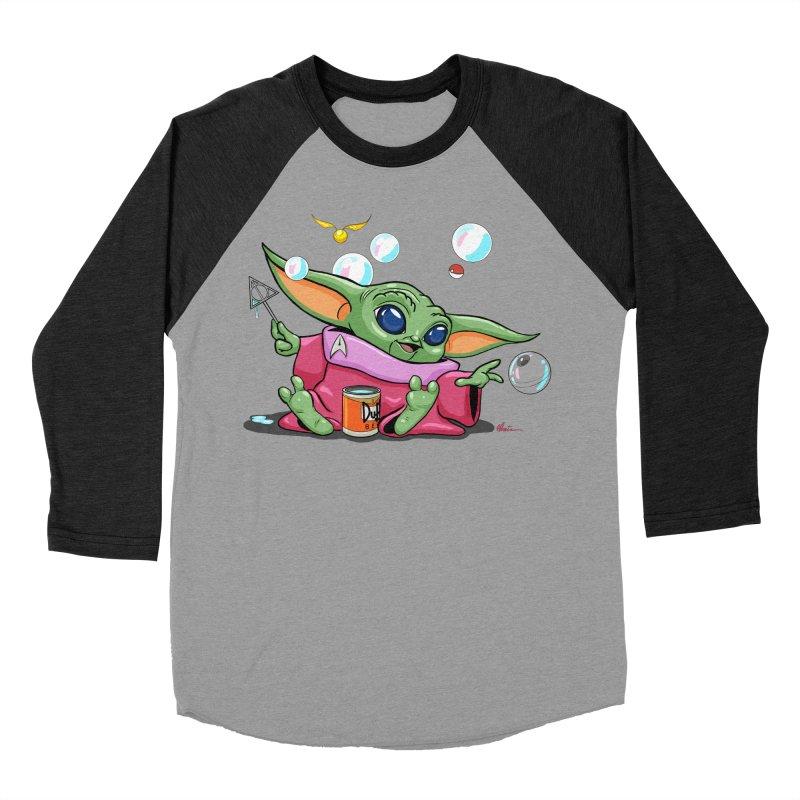 Orko Baby Yoda and Duff Deathly Hallow Bubbles Women's Baseball Triblend Longsleeve T-Shirt by Kindalikesorta - Art Prints, Custom T-Shirts + Mor