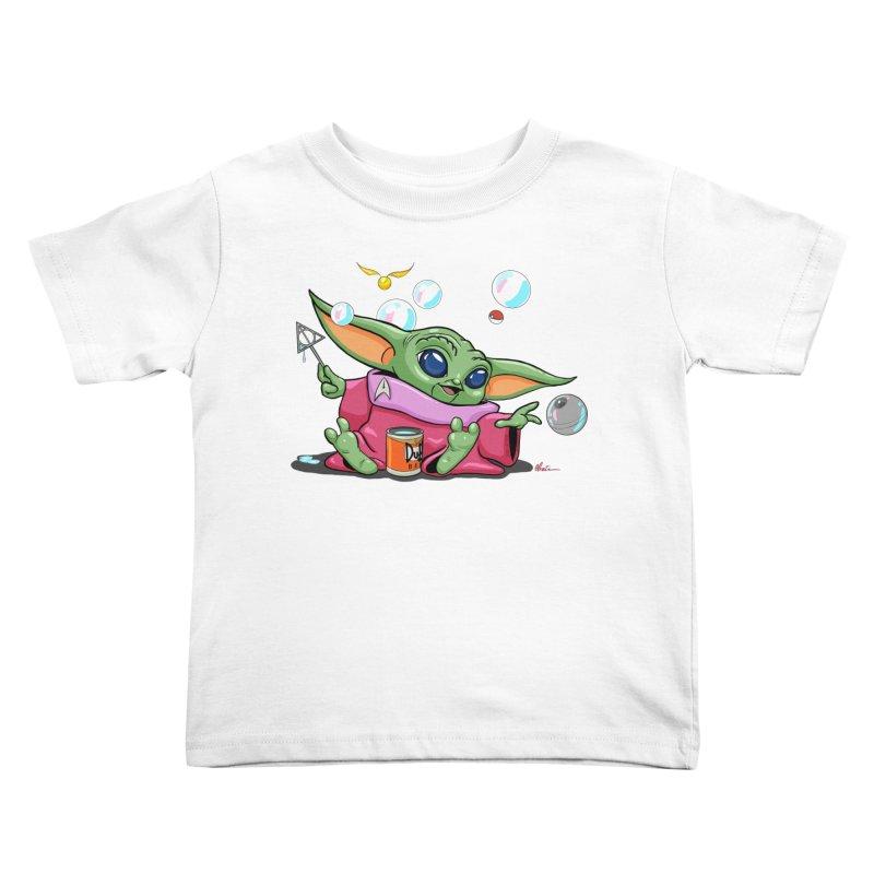 Orko Baby Yoda and Duff Deathly Hallow Bubbles Kids Toddler T-Shirt by Kindalikesorta - Art Prints, Custom T-Shirts + Mor